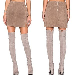 REVOLVE BLANK NYC SUEDE MINI SKIRT NWT SIZE 29 ✨
